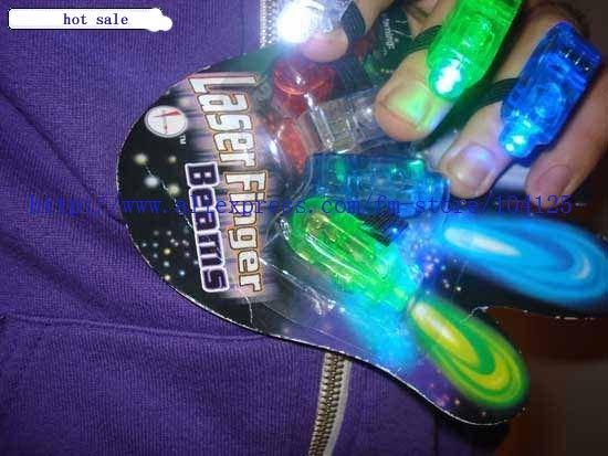 hot fashion new free shipping 500pcs/lot LED Light flash laser finger mini glow beams rings torch for kids(China (Mainland))