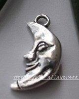 Free Shipping 250Pcs Tibet Silver MOON Charm pendants