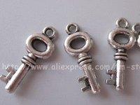 Free Shipping Tibet Silver Nice Key Charm pendants