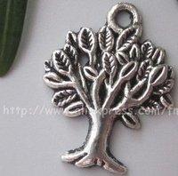 Free Shipping Tibet Silver Nice Tree Charm pendants