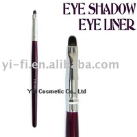 Flat headed eyeliner/eyeshadow brush