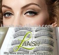 HOT! Fashion Natual Long Cross Fake False Eyelashes, 1000 Pairs, Free Shipping!!