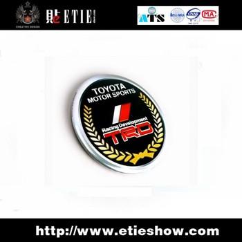 TRD free decals sticker Emblem/printing/surface protective film/metal base / 3 M back glue / 56 mm