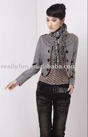 Hot Sale Women's Fashion Leather Jacket, Ladies' Noble Elegant Jacket WW0016
