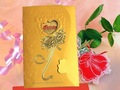 free shipping 50ps/lot New invitation/wedding invitations/married.the/card/wedding things/personality hot stamping/bronze-colore