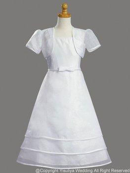 Free Shipping Princess Tea-length Spaghetti A-line Communion Dress
