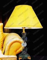 K9 crystal table lamp/ modern table lamps/ K9 Crystal+steel+fabric shade/ D450*H580mm+WHOLESALE OR RETAIL+free shipping