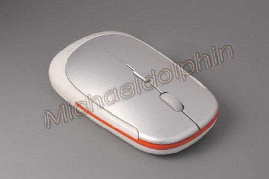 White Untrathin Mini Racer 1600DPI 2.4GHz Optical Wireless Mouse + Nano receiver + Bag, Free shipping!(China (Mainland))