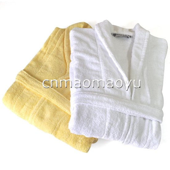 2pc/lot Promotion Free Shipping 100% Cotton Bathrobe Clothes Soft and Beautiful 190055(China (Mainland))
