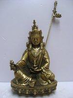 Tibetan Buddhist bronze GURU RINPOCHE PADMASAMBHAVA buddha statue 16 cm 0.6 KG  free shipping
