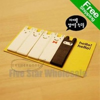 Free Shipping/Accept Credit Card 100pcs New Stickers Novelty Cute Rabbit Memo Note Pad Notepad