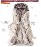 Free Shipping/Hot Sale Women's Fashion Coat, Faux fur BNW Winter Warm Long Coat Jacket Clothes S-XXL