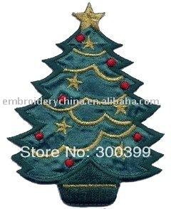 Commerci all'ingrosso 100 pezzi ricamato albero di natale per decorazioni di natale regali