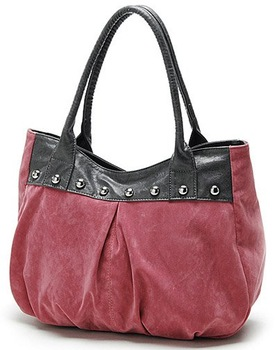 free shipping hot sell 2010 Karea  high quality Fashion lady suede studs shoulder bag sling bag