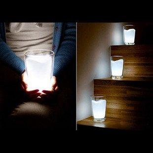 Free Shipping Novelty Product 4pcs/lot Led White Milk Light Night Light(China (Mainland))