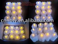 NEW DESIGN,FREE SHIPPING,HEART SHAPE,HOT SHOT,Button cell operated LED FLICKER Candle