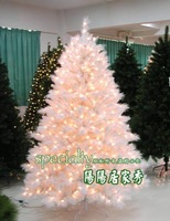 Free Shipping 180CM White Christmas Tree with 400 LEDs Artificial Christmas Tree Christmas ornaments Christmas tree decoration