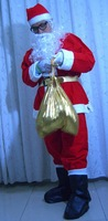 Newest Christmas Classical Santa Claus Mascot Costume 9 sets Free Shipping