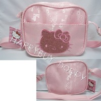 Free Shipping Cartoon Hello Kitty Pink Kids Shoulder Bag Carry Hand bag Messenger Sling Bag Wholesale