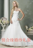 free shipping 2010 NEW Arrival women's Wedding Dress Ruffles Wedding Dresses dress wedding gown bride wedding Evening dress