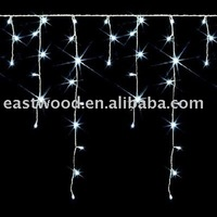 Wholesale free shipping:3M 120Led Icicle Christmas White Lights Halloween light-Party /garden