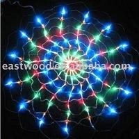 Wholesale free shipping:120 Led Spider net Christmas Multicolor Light