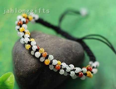 Atacado elegante Jóias Jade Natural bracelete frisado da Mulher Charme Bangle presente do Valentim 24pcs um lote Frete Grátis(China (Mainland))