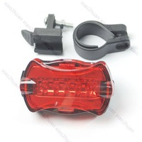 Free shipping! 2pcs/lot 5-LED Flashing Flash Light Rear Tail Lamp Bicycle Bike