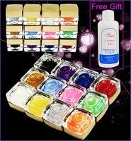 12 Colors 15ml Glitter UV Builder Gel Nail Art hkpost free shipping