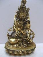 collect from Tibetan Buddhist bronze  VAJRASATTVA TIBET EINZIGARTIG buddha statue 18 cm 0.7 KG  free shipping