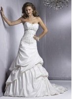 free shipping NEW Arrival women's Wedding Dress with Ruffles Wedding Dresses dress