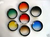 7 pcs 62mm Gradual Colour Filter w/ rotating frame