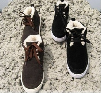 2010 new ,Cotton-padded shoes, winter essential, men's cotton-padded shoes, men's snow boots, male cotton-padded shoes, black