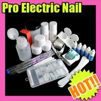 Nail Art Fast & Free Shipping Wholesales Price Acrylic Nail Art new Full Kit Powder Tips Tool Make-up 177