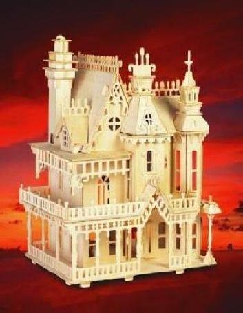 3D Woodcraft Wooden Puzzle kit Fantasy Villa House Model