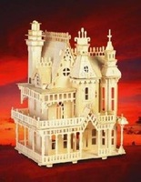 3D Woodcraft Wooden Puzzle kit Fantasy Villa House Model