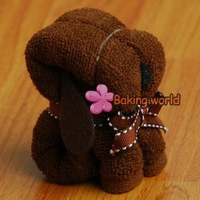 Free shipping + 100pcs/lot Puppy Dog Towel towel cake for Wedding Party Favor Baby Shower