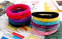 200pcs/lot colorful line hair ring rings elastic hair band rope girl headbands wholesale