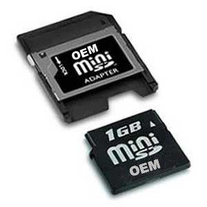 Free Shipping 1GB 2GB 4GB 8GB 16GB,32GB,64GB Mini SD Card+ Adapter