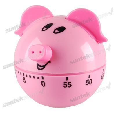 free shipping NEW Pig 60 Minute Kitchen Cooking Cook Ring Alarm Timer(China (Mainland))
