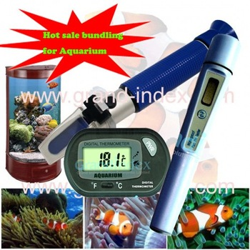 Best deals  Bundling sale for aquarium/Salinity Rrefractometer  + Aquarium Thermometer + PH meters