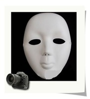 Scary White Face Halloween Masquerade DIY Mime Mask&15 x 20 x 6 cm&FREE SHIPPING