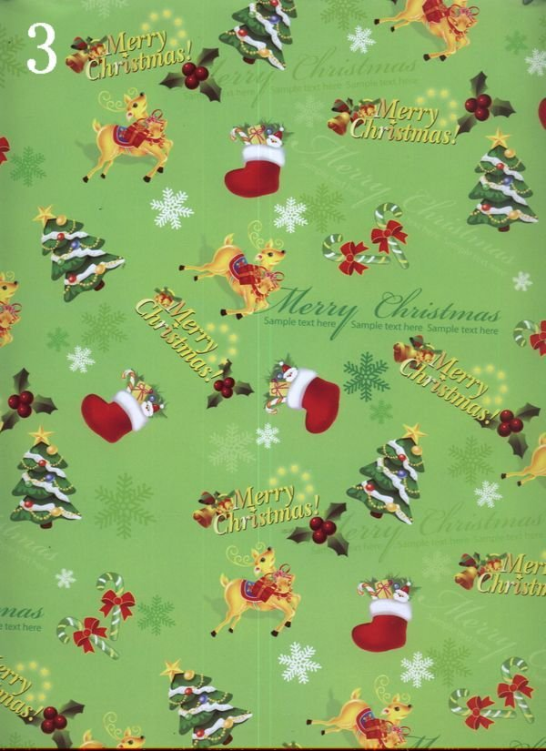 3 Hot sell christmas wrapping paper 2011 new gift wrapping paper, wrapping paper a variety of designs, free shipping(China (Mainland))