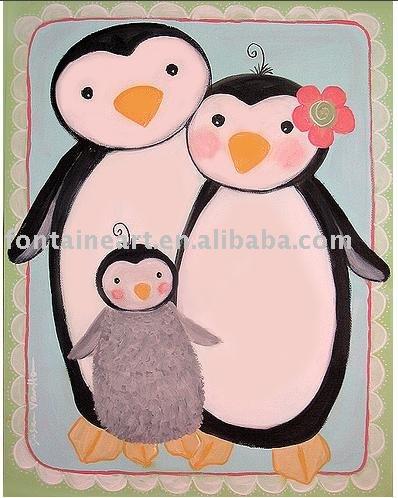 Online kopen wholesale pingu n schilderij uit china pingu n schilderij groothandel - Deco schilderij slaapkamer kind ...
