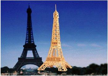 3D Wooden Puzzle Eiffel Tower Model Family Fun Kit NIB