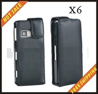 Free shipping --New high quality leather case mobilephone cellphone for NOKIA X6