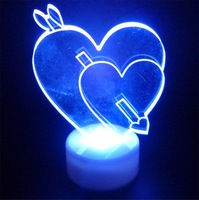 100pcs/lot hot sale 7colors Christmas Cupid love decoration shinning flashlight christmas gift