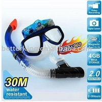 Free shipping Underwater Scuba Mask diving digital Camera (4GB) - 30M water resistant