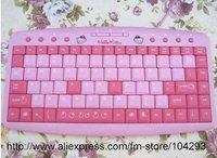 New Arrival 10pcs/lot free shipping Hello Kitty Mini Keyboard / KT-019