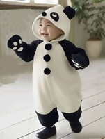 2010New Quality winter Baby Romper,panda Kid Romper,Polar fleece child rompers,cotton infant clothes,children clothes,Discount!